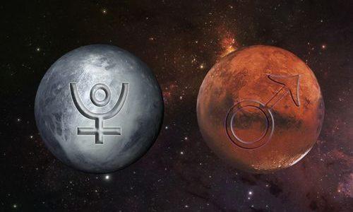 Conjunção Marte e Plutão no grau 15 de Capricórnio